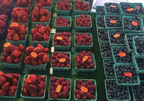 Strawberries, Raspberries and Blueberries